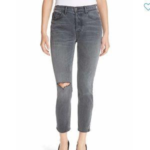 GRLFRND karolina ripped grey skinny jean